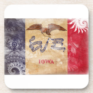 Iowa Flag Drink Coaster