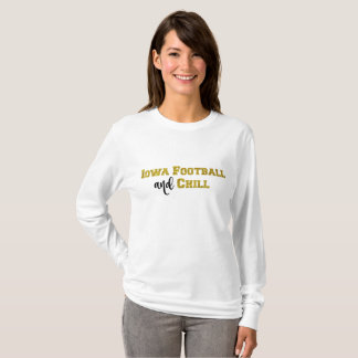 Iowa Football and Chill | Gold Glitter Top