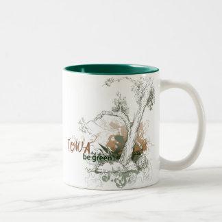 Iowa Green Tree Mug
