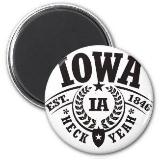 Iowa, Heck Yeah, Est. 1846 Magnet