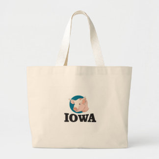 iowa hogs large tote bag