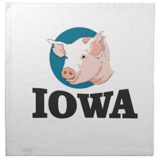 iowa hogs napkin