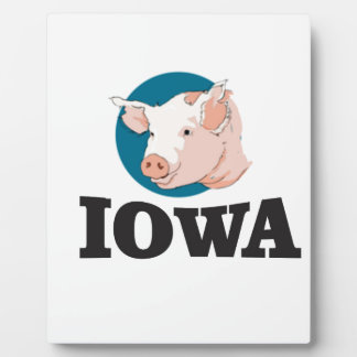 iowa hogs plaque