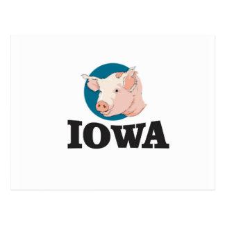 iowa hogs postcard