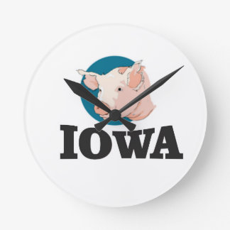 iowa hogs round clock
