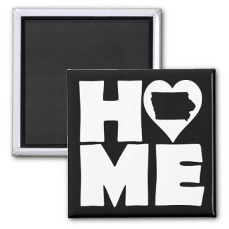 Iowa Home Heart State Fridge Magnet