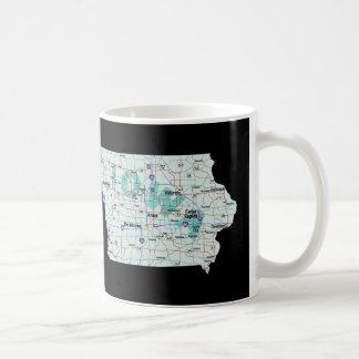 Iowa Interstate Map Coffee Mug