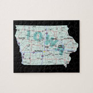 Iowa Interstate Map Jigsaw Puzzle