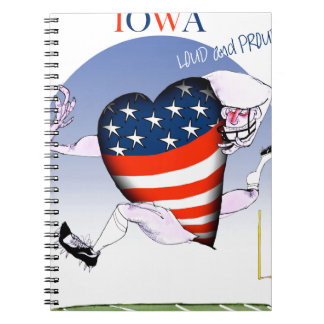 iowa loud and proud, tony fernandes notebook