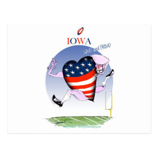 iowa loud and proud, tony fernandes postcard