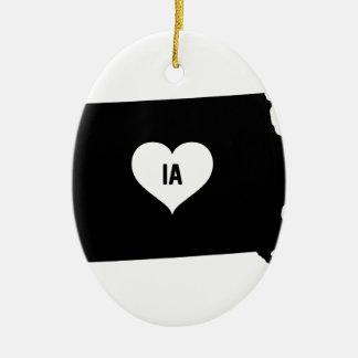 Iowa Love Ceramic Ornament