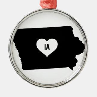 Iowa Love Metal Ornament