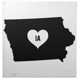 Iowa Love Napkin