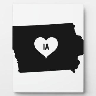 Iowa Love Plaque