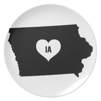 Iowa Love Plate