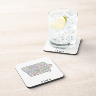 Iowa map coasters