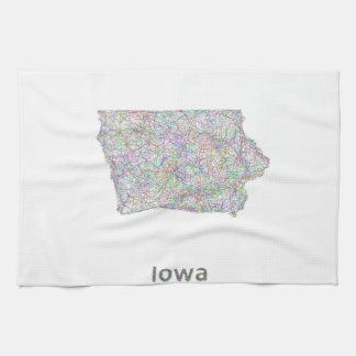 Iowa map kitchen towel