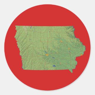 Iowa Map Sticker