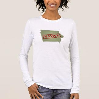 Iowa Native with Iowa Map Long Sleeve T-Shirt