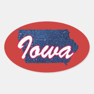 Iowa Oval Sticker