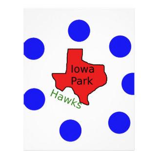 Iowa Park, Texas Design (Hawks Text Included) Letterhead