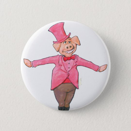 Iowa Pig 2 Inch Round Button