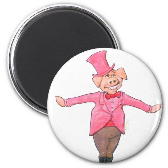 Iowa Pig 2 Inch Round Magnet