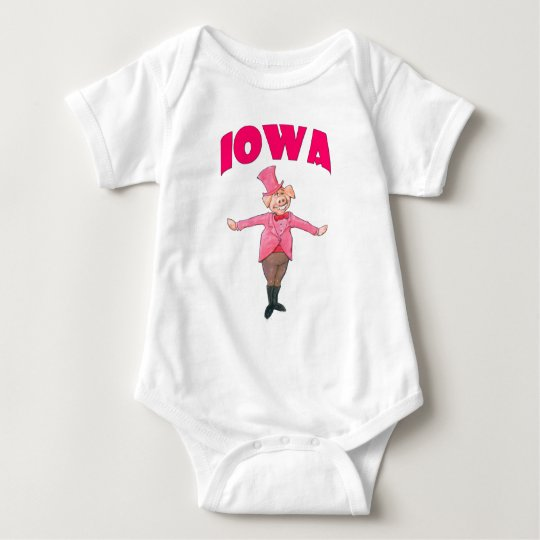 Iowa Pig Baby Bodysuit
