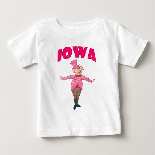Iowa Pig Baby T-Shirt