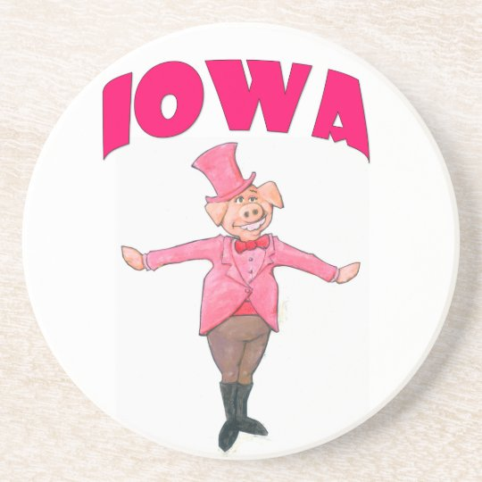 Iowa Pig Drink Coaster