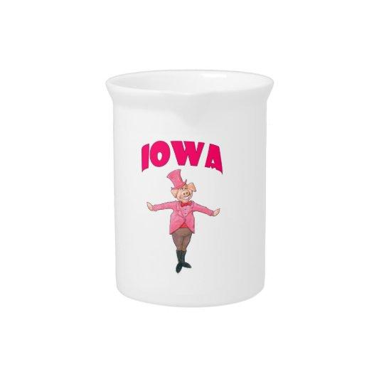 Iowa Pig Drink Pitcher