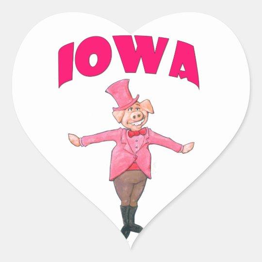 Iowa Pig Heart Sticker