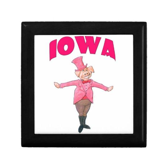 Iowa Pig Jewelry Box