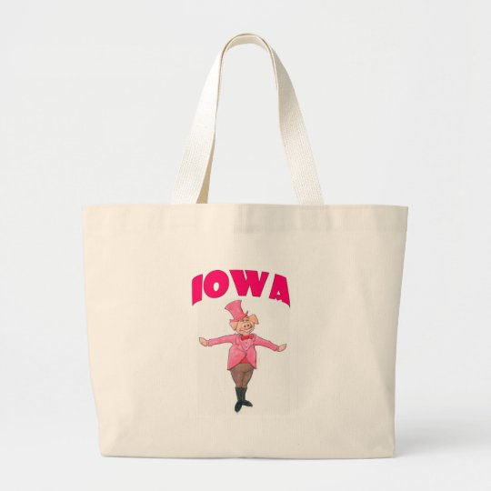 Iowa Pig Large Tote Bag