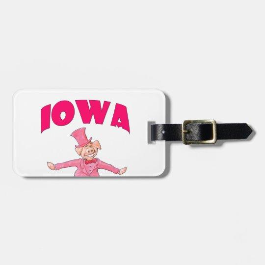 Iowa Pig Luggage Tag