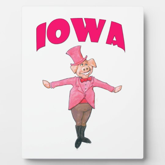 Iowa Pig Plaque