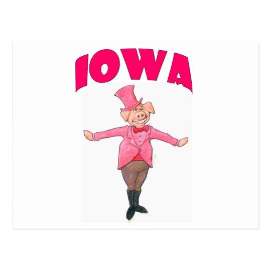Iowa Pig Postcard