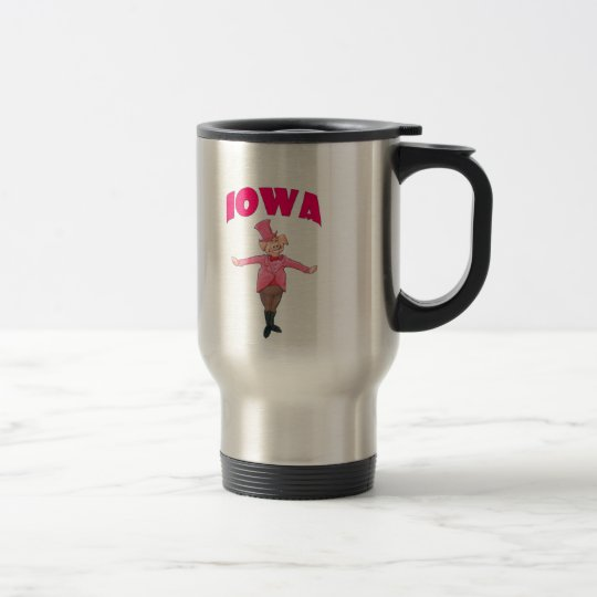 Iowa Pig Travel Mug
