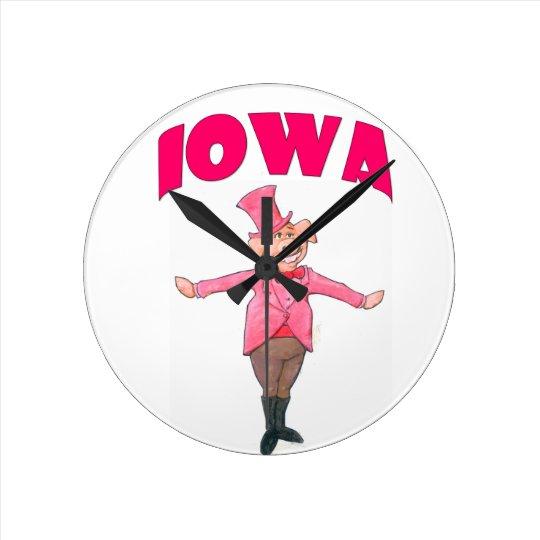 Iowa Pig Wall Clock
