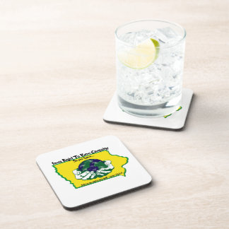 Iowa Right to Know Campaign Cork Back Coasters