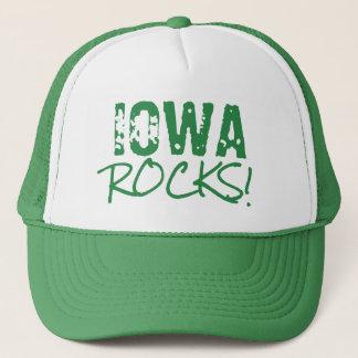 IOWA Rocks Words Green Hat