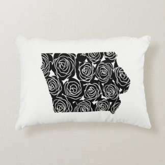 Iowa Rose Floral Pillow