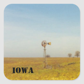 iowa scenes square sticker