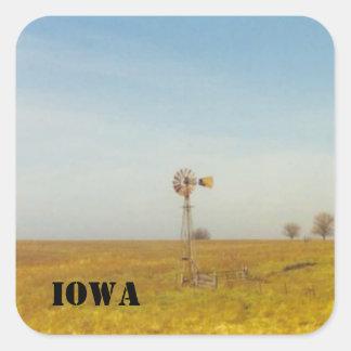 iowa scenes square sticker
