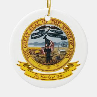 Iowa Seal Ceramic Ornament