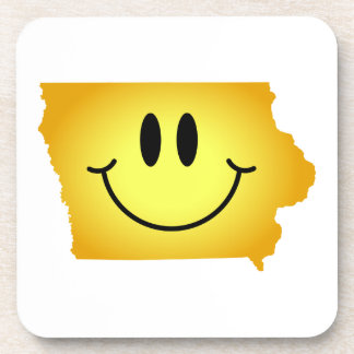 Iowa Smiley Face Drink Coaster