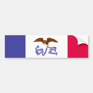 Iowa State Flag Bumper Sticker