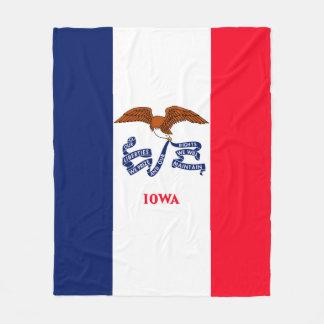 Iowa State Flag Design Fleece Blanket
