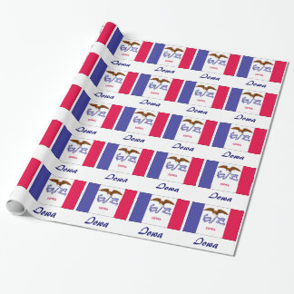 Iowa State Flag Wrapping Paper