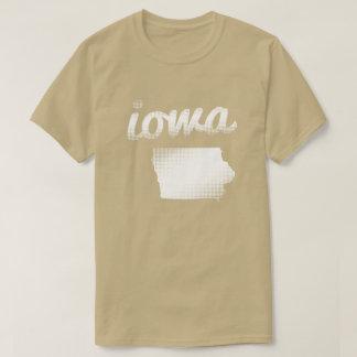 Iowa state in white T-Shirt